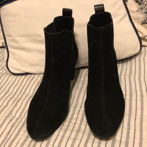 Tory Burch Black Suede Booties size 7.5
